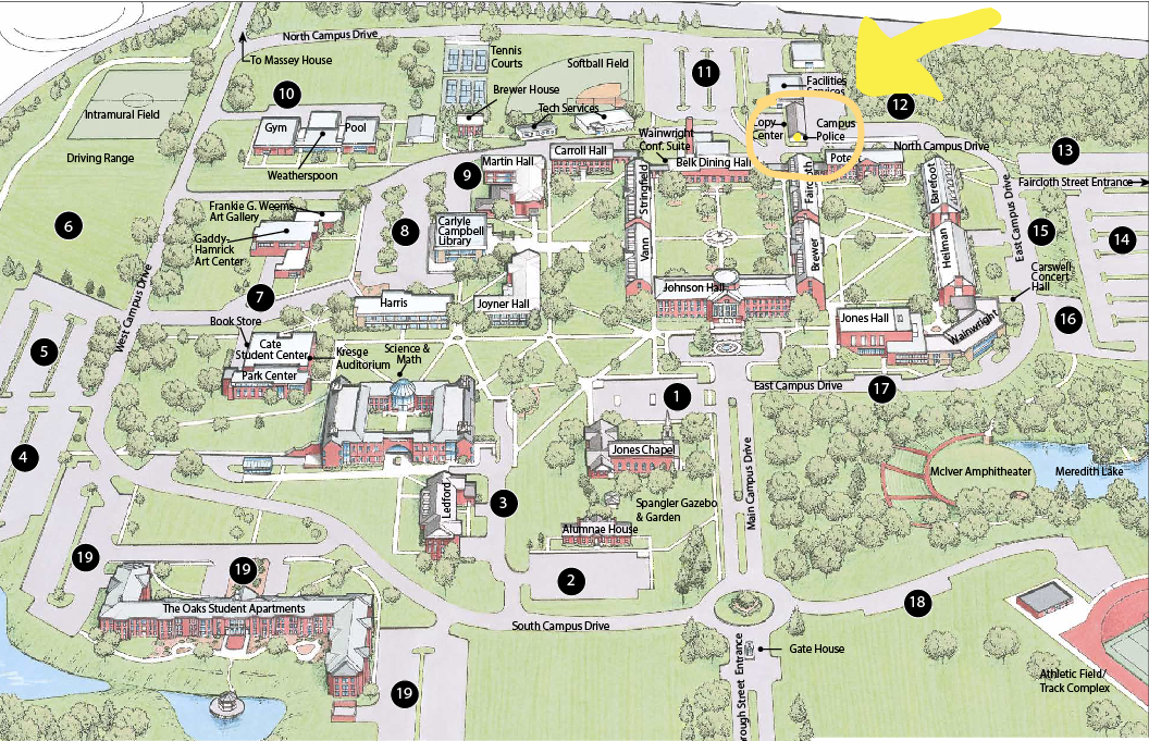meredith college campus map Getting A Camcard New Or Lost Hi Tech Halos meredith college campus map